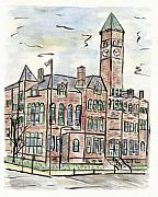Dakota Painting Metal Prints - Old Courthouse Museum Metal Print by Matt Gaudian