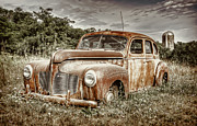 Overgrown Metal Prints - Old DeSoto - Color Metal Print by Scott Norris