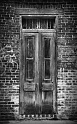 French Door Prints - Old Door With Bricks Print by Perry Webster