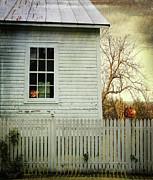 Old Farm  House Window  Print by Sandra Cunningham