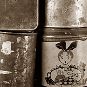 Cans Photos - Old fashioned iron boxes. by Bernard Jaubert