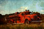 Fire Digital Art - Old Fire Truck by Off The Beaten Path Photography - Andrew Alexander