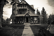 House Pyrography Metal Prints - Old House Metal Print by Darren Langlois