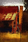 Dilapidated Digital Art - Old house in Australia by Fran Woods