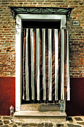 Drapery Photo Prints - Old Italian Door Print by Joana Kruse