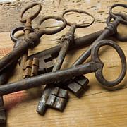 Old Keys Print by Bernard Jaubert