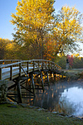 New England Fall Shots Framed Prints - Old North Bridge Concord Framed Print by Brian Jannsen