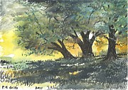 Old Oaks Print by Patrick Grills