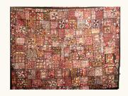 Patchwork Quilts Tapestries - Textiles Originals - Old Patchwork by Dinesh Rathi