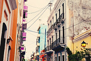 Colorful Buildings Posters - Old San Juan Puerto Rico Poster by Kim Fearheiley