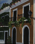 San Juan Paintings - Old San Juan Streetscape by Karen Ayala