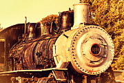 Old Postcards Prints - Old Steam Locomotive Engine 1258 . 7D10482 Print by Wingsdomain Art and Photography