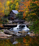 Grist Mill Art - Old Time Fame by Bernard Chen