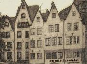 Old Houses Prints - Old Town of Cologne Print by Jutta Maria Pusl