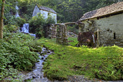 Rustic Mill Posters - Old Watermill Poster by Joana Kruse