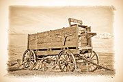 Sephia Photo Framed Prints - Old West Wagon  Framed Print by Steve McKinzie