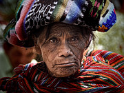 Tom Bell Framed Prints - Old Woman of Chichicastenango Framed Print by Tom Bell