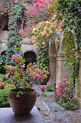 Old World Charm Prints - Old World Courtyard Print by Jeremy Woodhouse