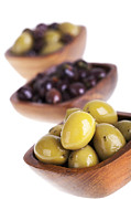 Olives Framed Prints - Olive bowls Framed Print by Jane Rix