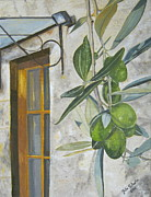 John Schuller Paintings - Olives in Tuscany by John Schuller