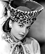 Leopard Print Framed Prints - Olivia De Havilland, 1943 Framed Print by Everett