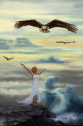 Praise Art - On Eagles Wings by Jeanette Sthamann