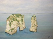 Middle East Painting Originals - On the Edge of Lebanon by J F Dagher