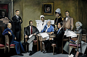Black History Painting Framed Prints - One Day Framed Print by Stacy V McClain