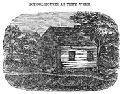 One Room Schoolhouse Prints - One-room Schoolhouse Print by Granger