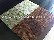 Onyx Blocks Glass Art - Onyx Mosaic by Hanam Marble Industries