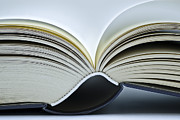 Story Books Prints - Open Book Print by Frank Tschakert