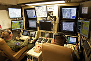 Control Room Photo Posters - Operators Control Uavs From A Ground Poster by HIGH-G Productions
