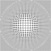 Optical Illusion Digital Art Posters - Optical Illusion Ball In Ball Poster by Sumit Mehndiratta