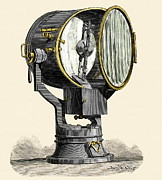 Projector Prints - Optical Telegraphy, 19th Century Print by Sheila Terry