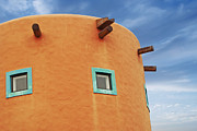 Wooden Building Prints - Orange building detail Print by Blink Images