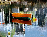 Motif 1 Posters - Orange Dinghy Poster by Dale   Ford