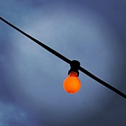 Featured Metal Prints - Orange Light Bulb Metal Print by Matthias Hauser