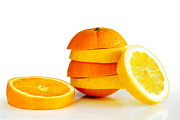 Green. Orange Framed Prints - Oranje Lemon Framed Print by Carlos Caetano