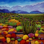 Yellows Painting Prints - Organ Pipe Print by Johnathan Harris
