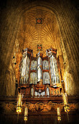 Church Pillars Art - Organ by Svetlana Sewell