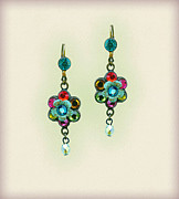 Multicolor Jewelry - Orly Zeelon Floral Bee Hive Earrings by Orly Zeelon