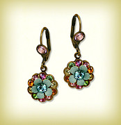 Multicolor Jewelry - Orly Zeelon Jewelry - The Metalwork Rainbow Earrings by Orly Zeelon