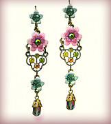 Gift Jewelry - Orly Zeelon The Queen Earrings With Stone Tassel by Orly Zeelon