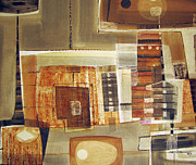 Cosmic Paintings - OS1957BO001 Abstract Landscape of Potosi Bolivia 25.75x22 by Alfredo Da Silva