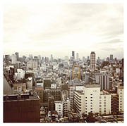 Transfer Print Prints - Osaka City Skyline Print by Ixefra