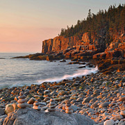 Otter Photos - Otter Cliffs Morning by Stephen  Vecchiotti