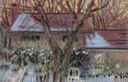 Snow Pastels Originals - Our House by Donald Maier