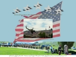 4th July Digital Art Posters - Our Memorial Day Salute Poster by Daniel Hebard