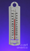 Monitoring Posters - Outdoor Thermometer Poster by Photo Researchers, Inc.