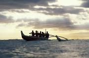 Sports Art Prints - Outrigger Canoe Print by Vince Cavataio - Printscapes